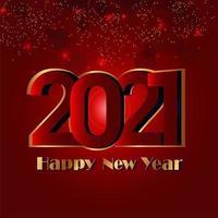 Gelukkig Nieuwjaar 2021 feestkaart vector