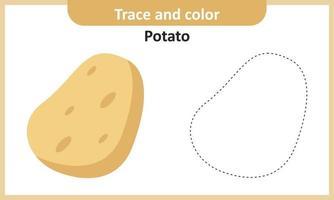 traceer en kleur aardappel vector