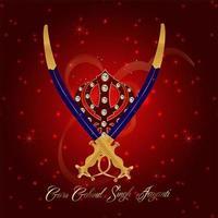 gelukkige goeroe gobind singh jayanti viering achtergrond vector