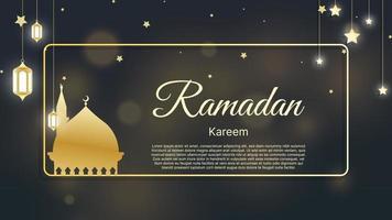 islamitische achtergrond ramadan kareem, eid mubarak met bokeh lichte vectorillustratie