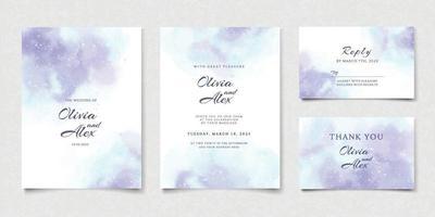 aquarel bruiloft uitnodiging vector