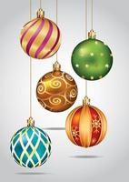 kerstballen kleurset. vector illustratie.