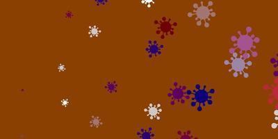lichtgroene, rode vectorachtergrond met virussymbolen. vector
