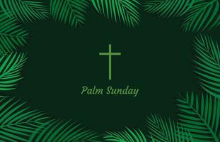 Eenvoudige palmzondag achtergrond vector