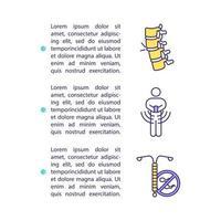 smartphone gezondheidsschade concept pictogram met tekst
