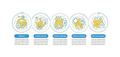 smartwatch functies vector infographic sjabloon