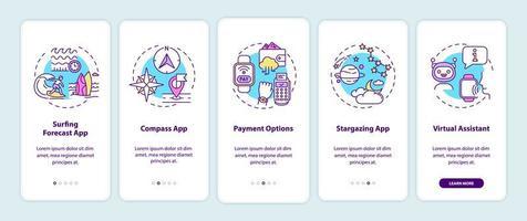 slimme horloge-elementen onboarding mobiele app-paginascherm met concepten