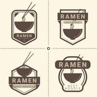 ramen badge pack vector