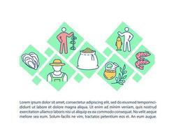 landbouw en visserij concept pictogram met tekst