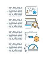 lening verwerking concept pictogram met tekst