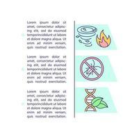 landbouw uitdagingen concept pictogram met tekst