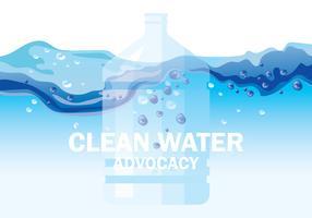 Clean Water Advocacy Illustratie vector