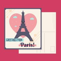 Parijs postkaart Vector