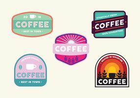Vintage koffie badge set