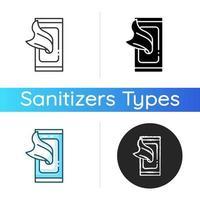 desinfecterende doekjes pictogram