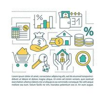 hypotheekdiensten concept pictogram met tekst