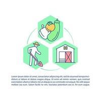 agrarisch leven concept pictogram met tekst vector