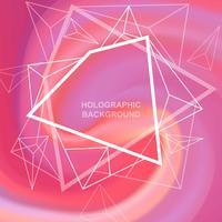 Holografische achtergrond vector