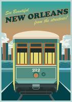 Stadswagon van New Orleans vector