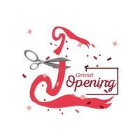 grootse opening banner met lint snijden