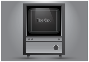 Oude televisie Vector
