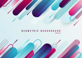 abstract blauw en roze geometrisch afgerond lijn diagonaal patroon vector