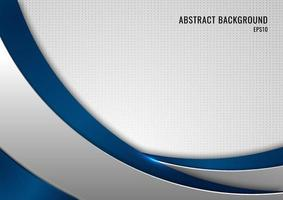 abstracte sjabloon blauwe en grijze curve op vierkante achtergrond vector