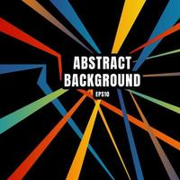 abstracte kleurrijke diagonale lijnoverlapping op zwarte retrostijl als achtergrond.