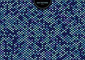 abstracte naadloze stippen patroon blauwe kleur op zwarte achtergrond vector