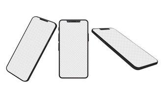 eenvoudige mock-upapparaten voor smartphones vector