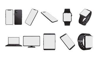 bundel mock-ups van elektronische apparaten