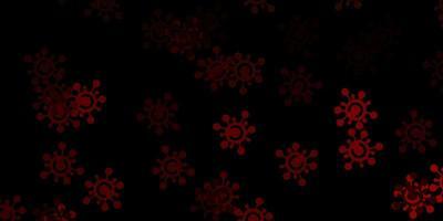 donkeroranje vectorpatroon met coronaviruselementen.