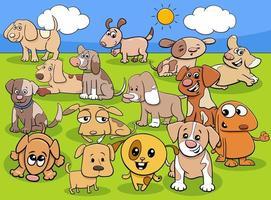 cartoon puppies stripfiguren dierengroep vector
