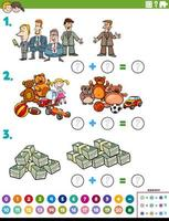 wiskunde toevoeging educatieve taak met objecten en karakters