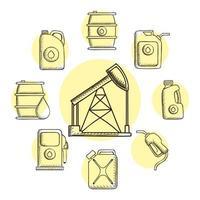 bundel van negen olie-iconen