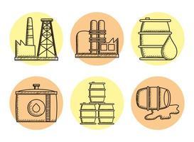bundel van zes olie-iconen