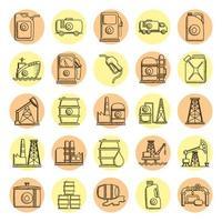 bundel van vijfentwintig olie-iconen