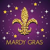 mardi gras viering poster met fleur de lis vector