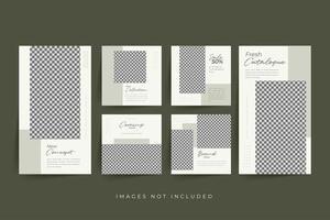 minimalistische sociale media-sjabloon premium vector