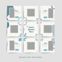 sociale media puzzel frame raster post sjabloon voor mode verkoop promotie premium vector