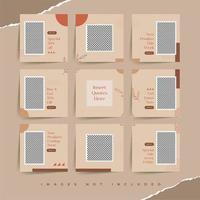 sociale media puzzelraster naadloze achtergronden voor speciale kortingspromotie in de modewinkel