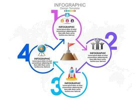 vector infographic sjabloon met vier opties en pictogrammen.