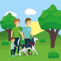 familie buitenactiviteiten doen vector