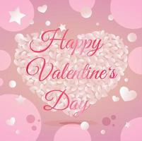 happy valentine day wenskaart kleur ontwerp vector