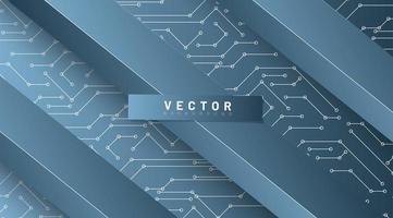 abstract vector technische achtergrond. rechthoekig patroon met een achtergrondverbindingslijn. ontwerp 3d