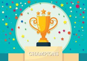 Champions vectorillustratie vector