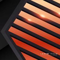 oranje vormen met schaduw en lichte achtergrond vector