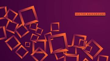 abstracte geometrische 3d vierkante lijnachtergrond