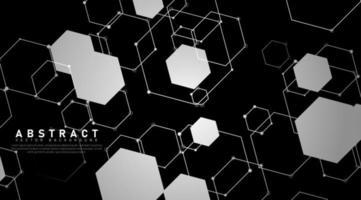 overlappende vormen en zeshoekige lijnen achtergrond vector