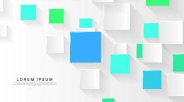3D-kleurrijke vierkante papier achtergrond vector